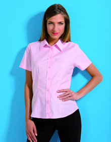 Kustom Kit K360 S/S Ladies Workwear Oxford shirt