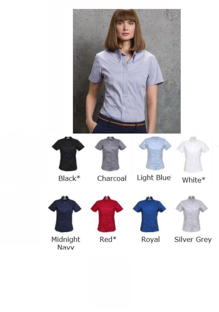 Kustom Kit K701 Ladies short sleeve Oxford blouse