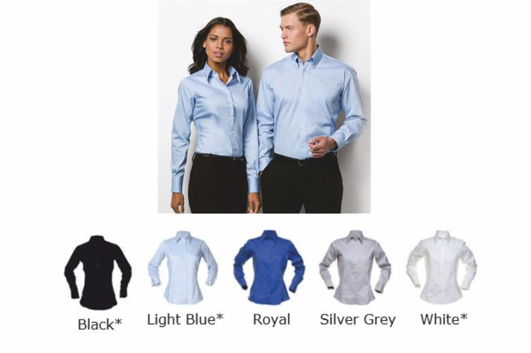 Kustom Kit K702 Ladies long sleeve Oxford blouse