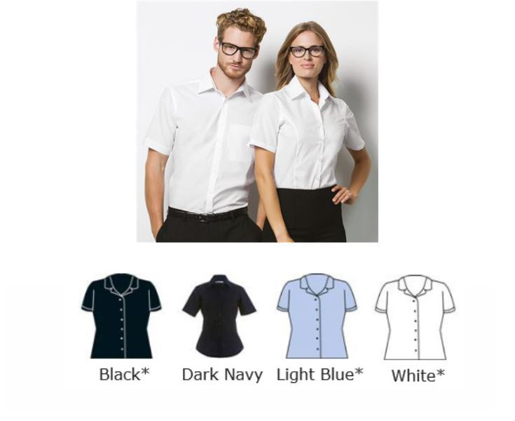 Kustom Kit KK742F Ladies Business Short Sleeve Shirt