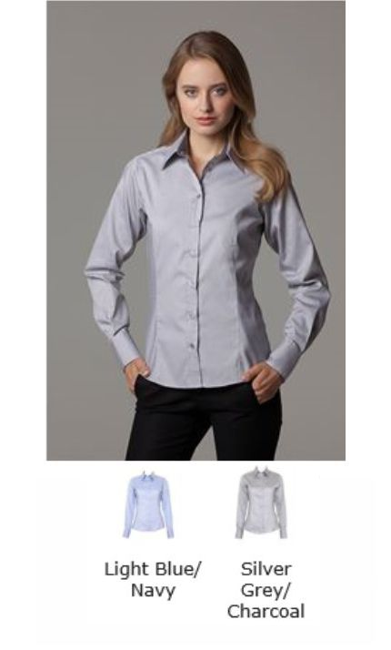 Kustom Kit KK789 Women's Contrast Premium Oxford Shirt