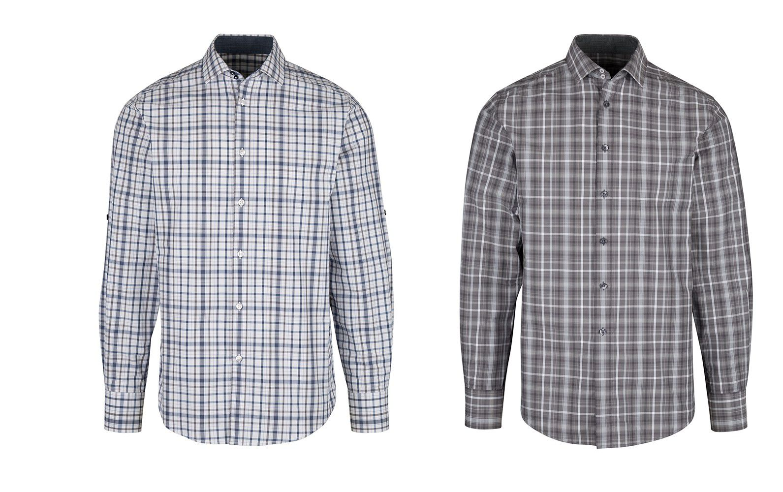 NM522 Men's Roll Up Sleeve Check Shirt