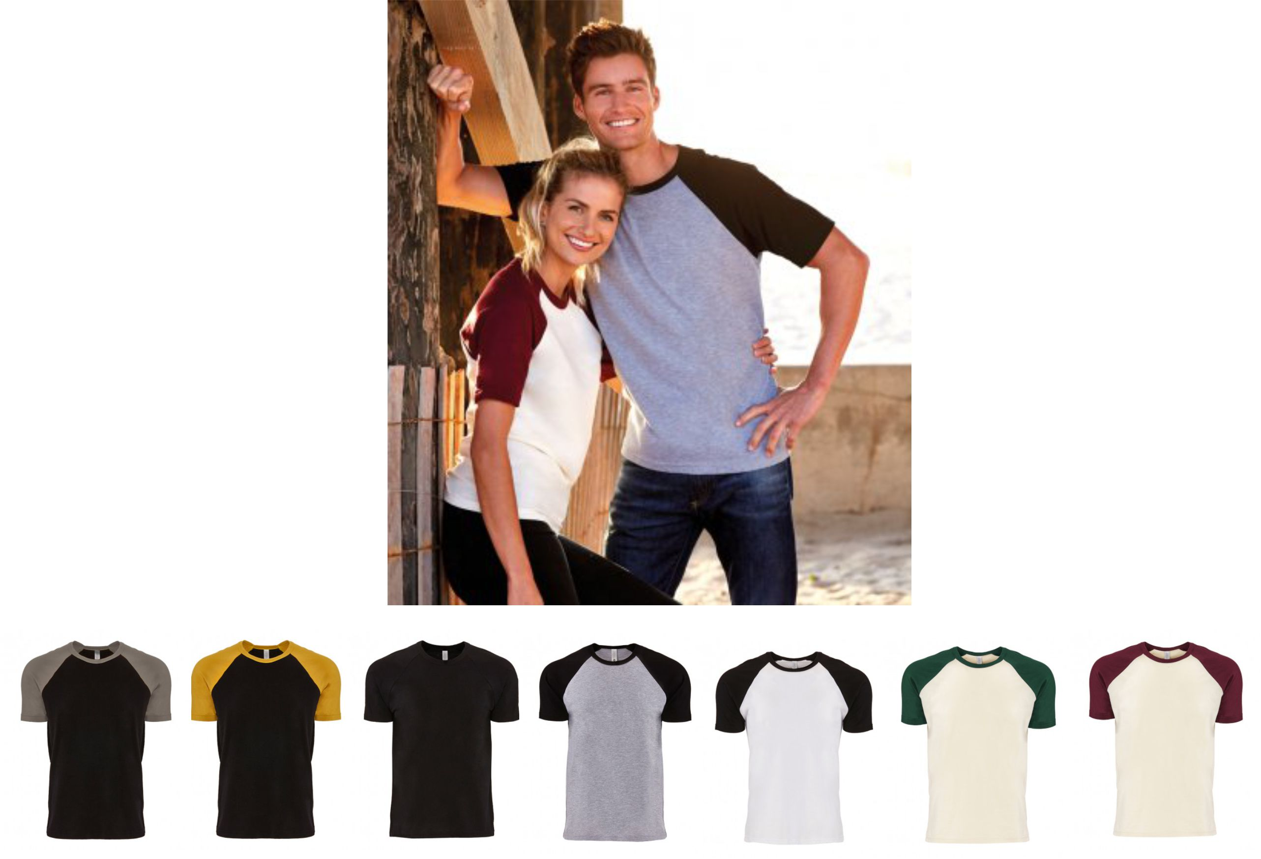 Next Level NX3650 Unisex Contrast Cotton Raglan T-Shirt