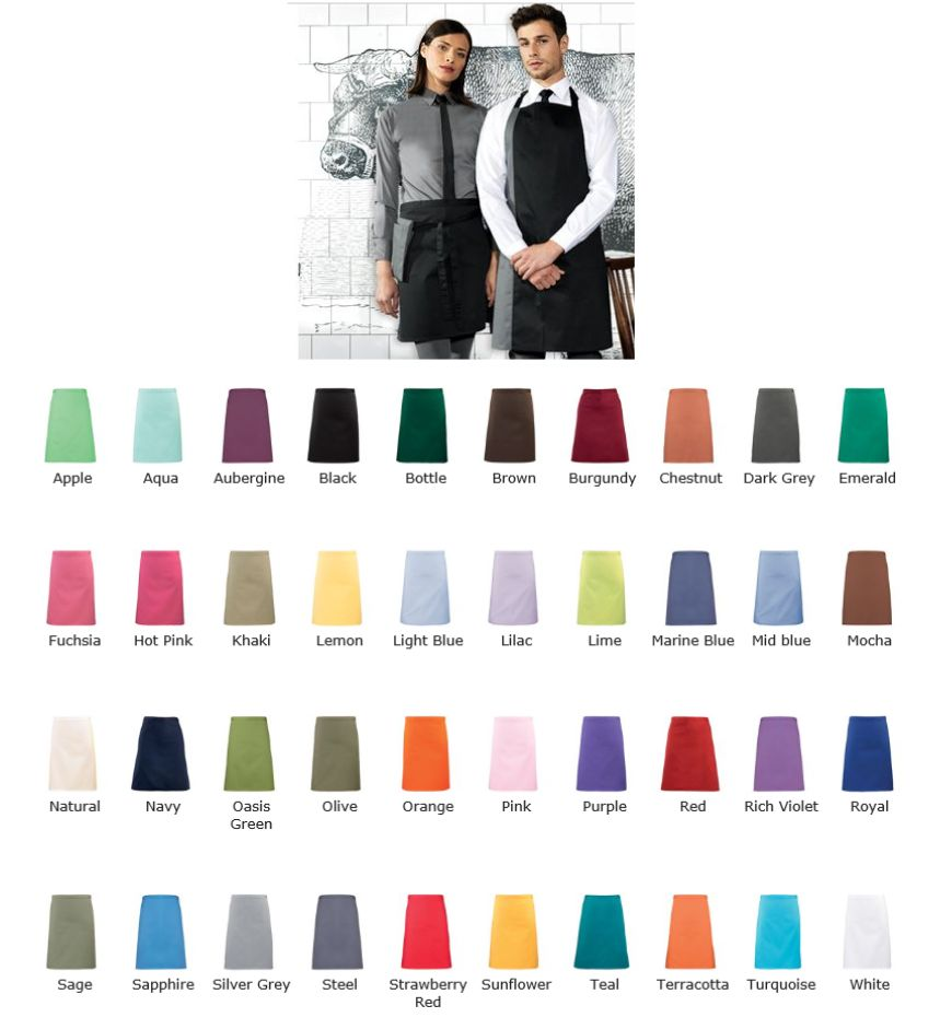 Premier PR151 Colours Mid Length Apron