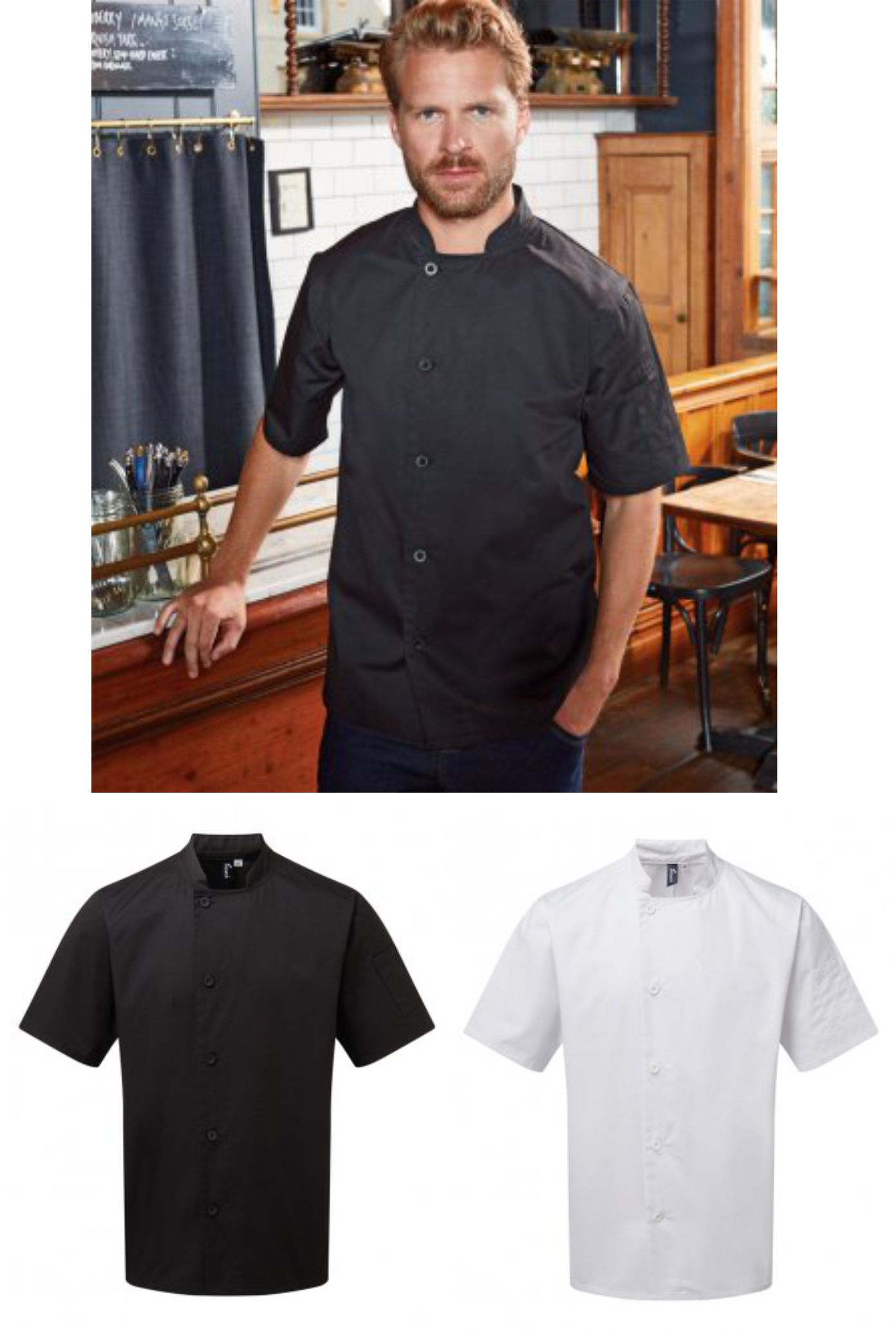 PR900 Essential Short Sleeve Chef's Jacket