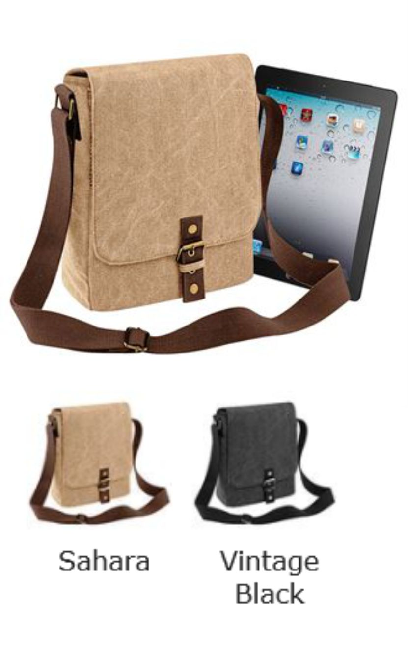 Quadra QD624 Vintage Canvas Ipad/Tablet Reporter