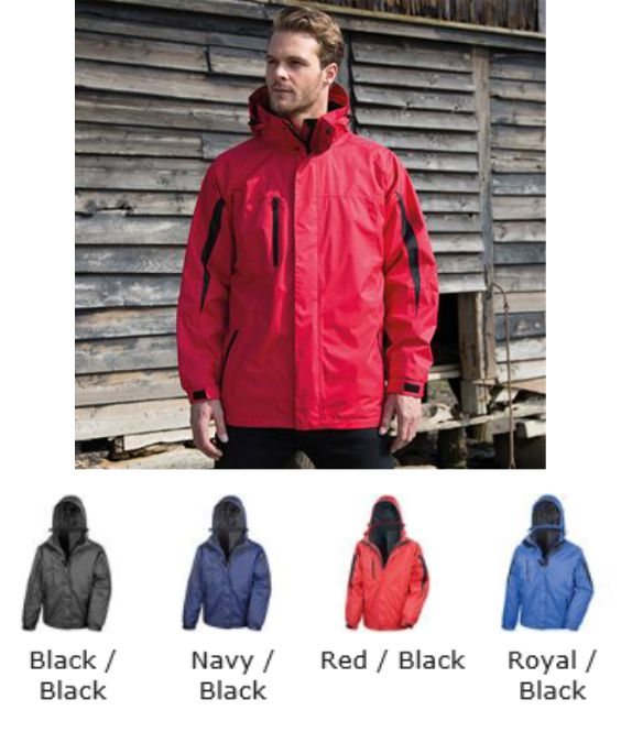 Result RS400 Men's 3 in 1 Softshell Journey Jacket