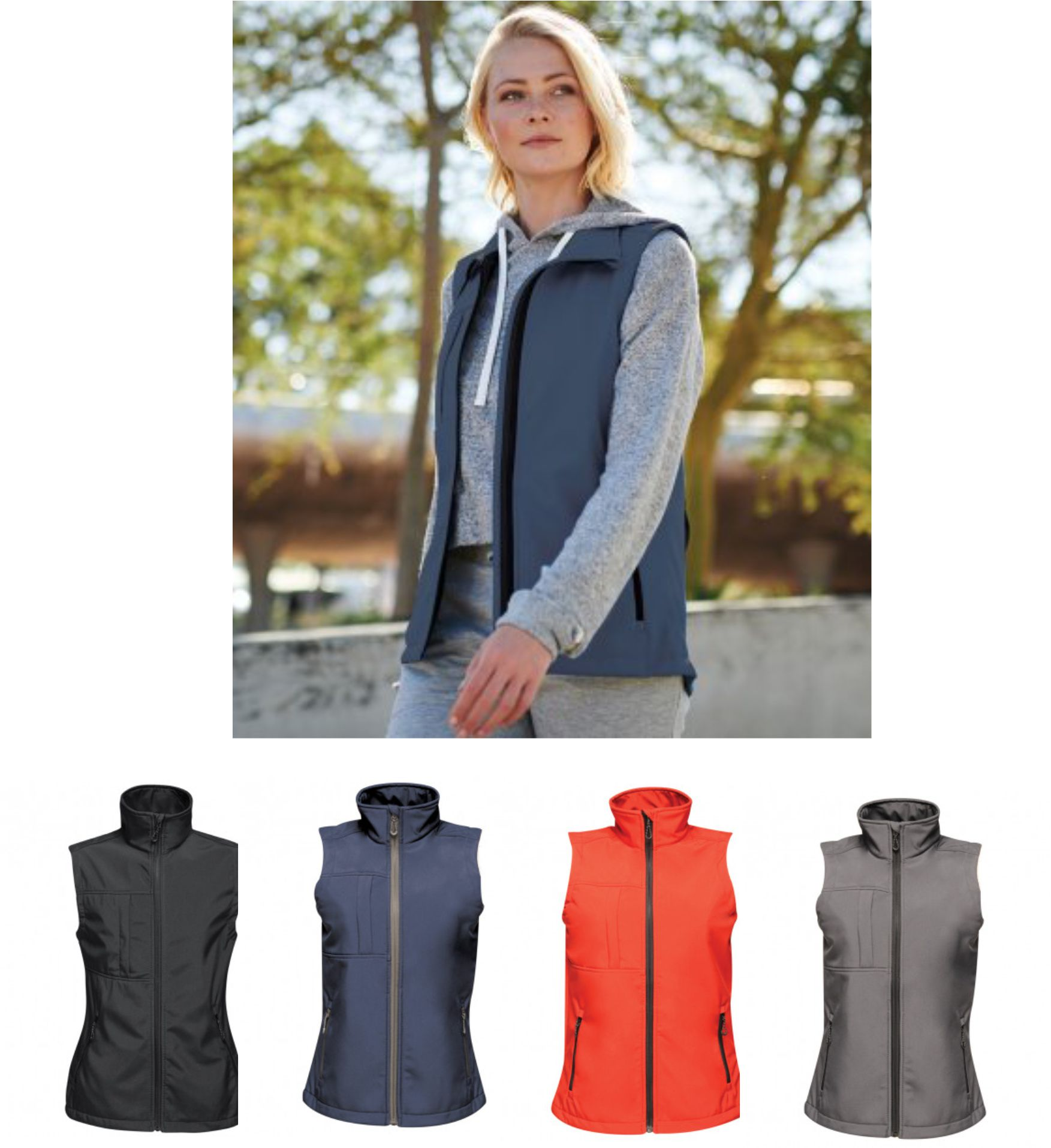Regatta RG216 Ladies Octagon Printable Softshell Bodywarmer