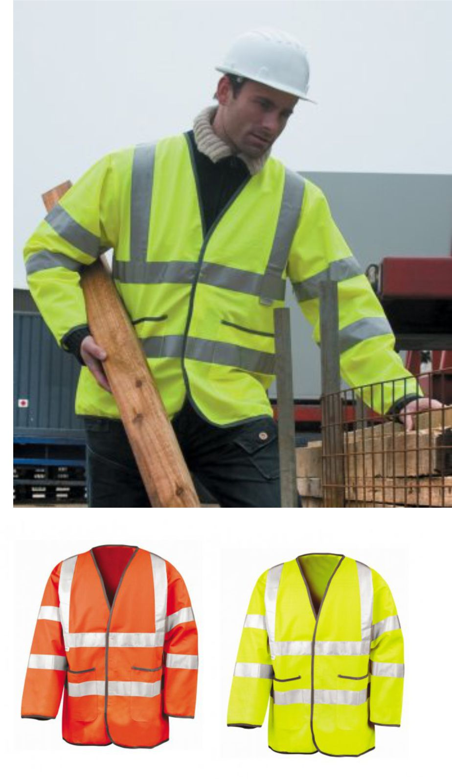 Result RS210 Safeguard Lightweight Hi-Vis Motorway Safety Jacket