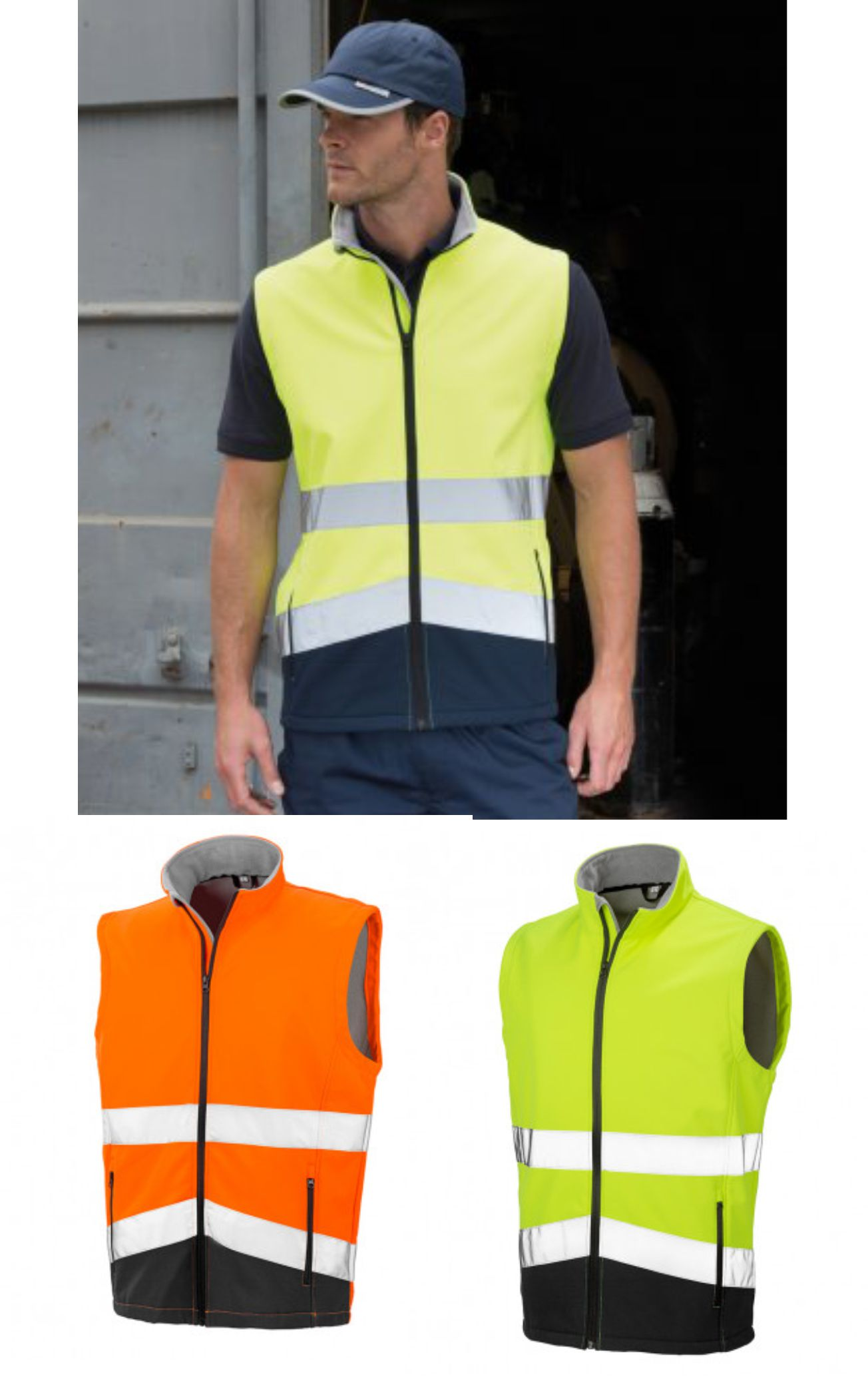 Result Safeguard RS451 Printable Safety Soft Shell Gilet