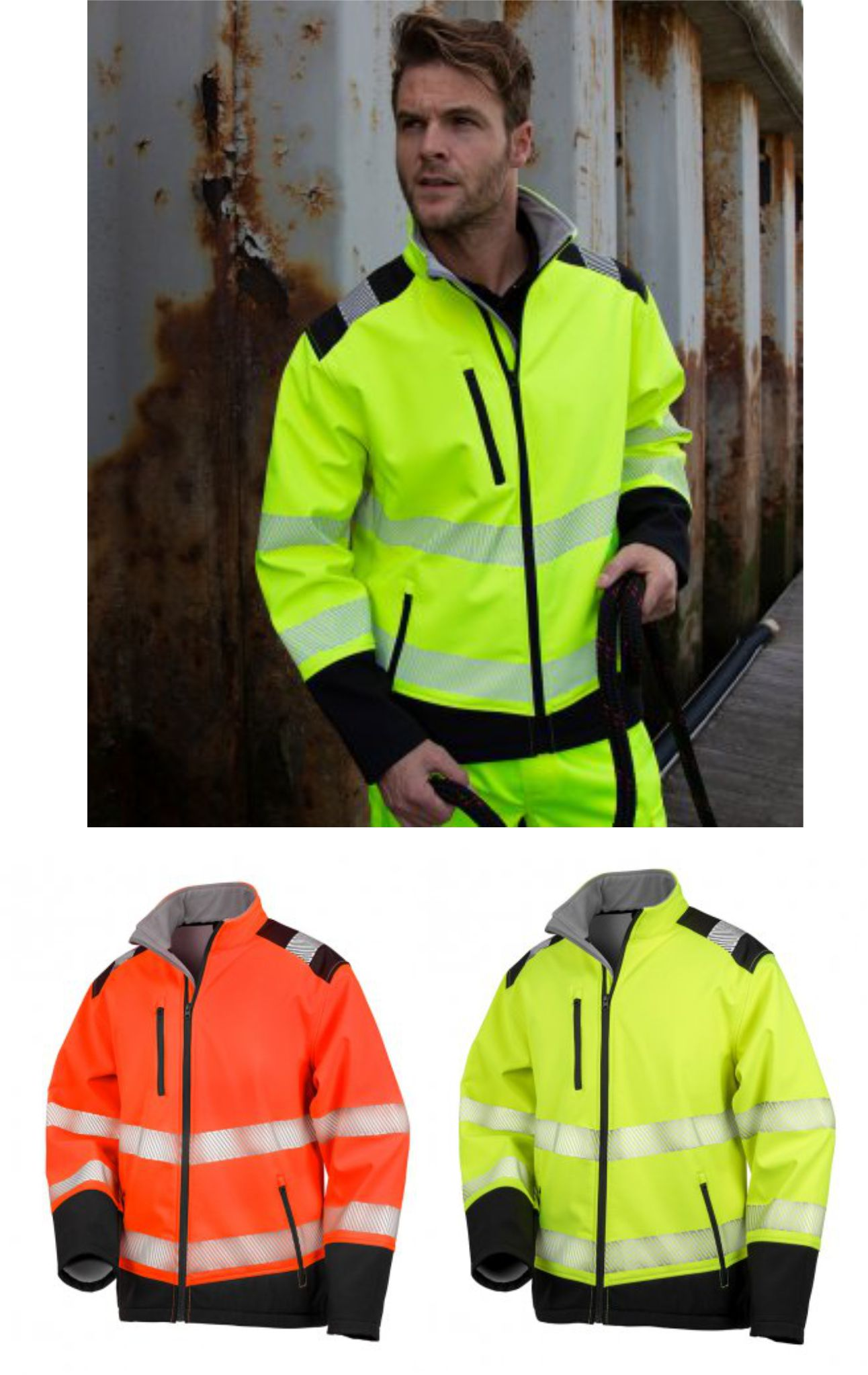 RS476 Result Safe-Guard Printable Ripstop Soft Shell Jacket