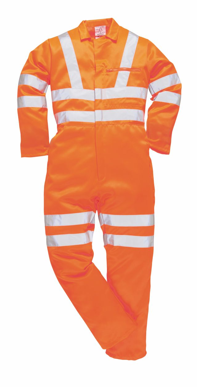 RT42 Hi Vis Poly/cotton Coverall GO/RT