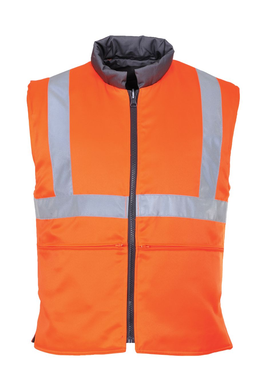 RT44 Hi Vis Reversible Body Warmer GO/RT