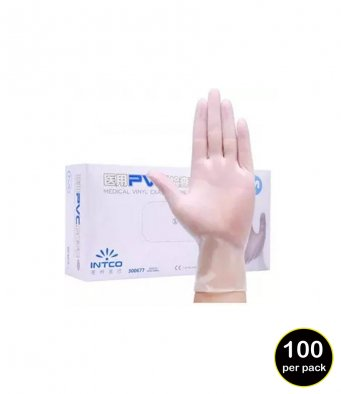 RV10 Result Clear Synthetic Vinyl Disposable Gloves