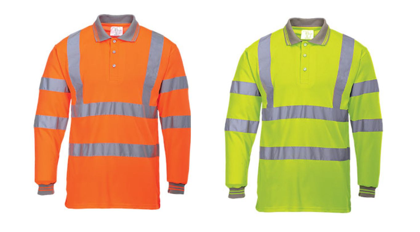 S277 Long Sleeve Hi Vis polo