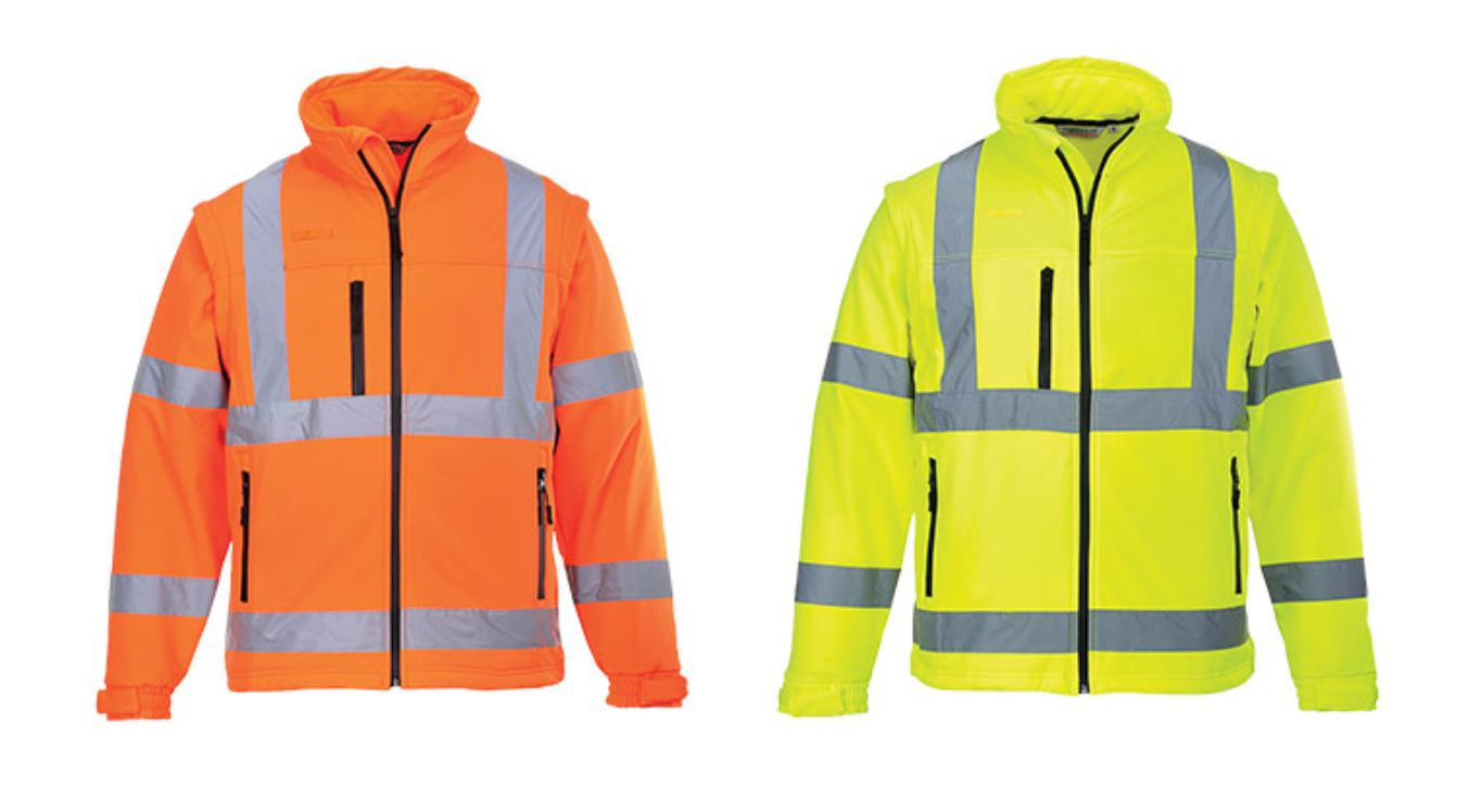 S428 Hi Vis Soft Shell Jacket