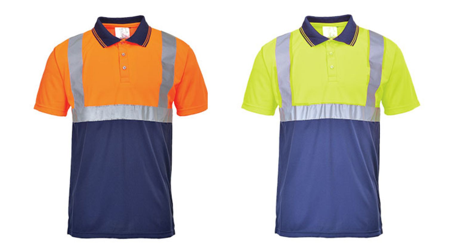 S479 Two Tone Hi Vis Polo
