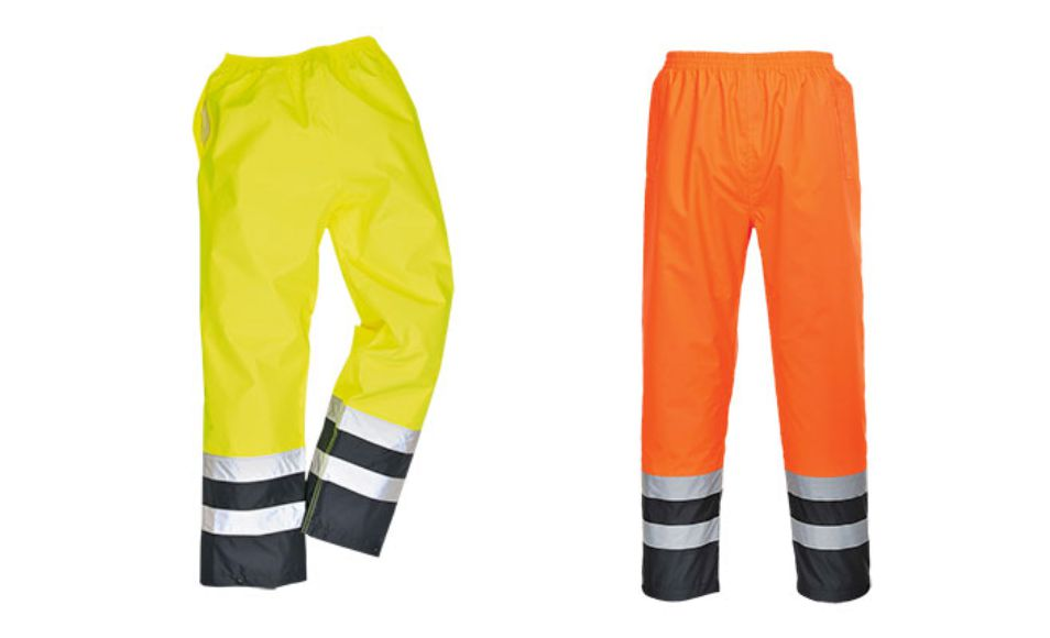 S486 two tone traffic trousers