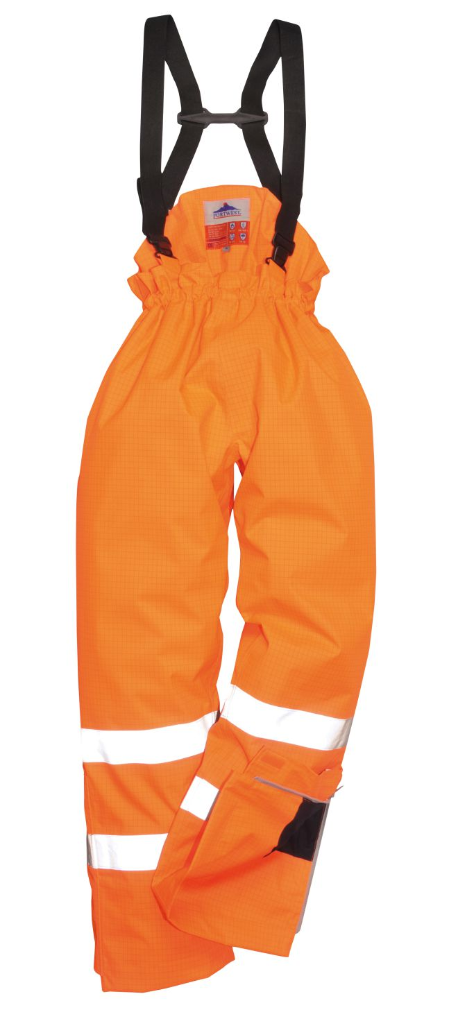 S780 Unlined Hi Vis Anti Static FR Trousers