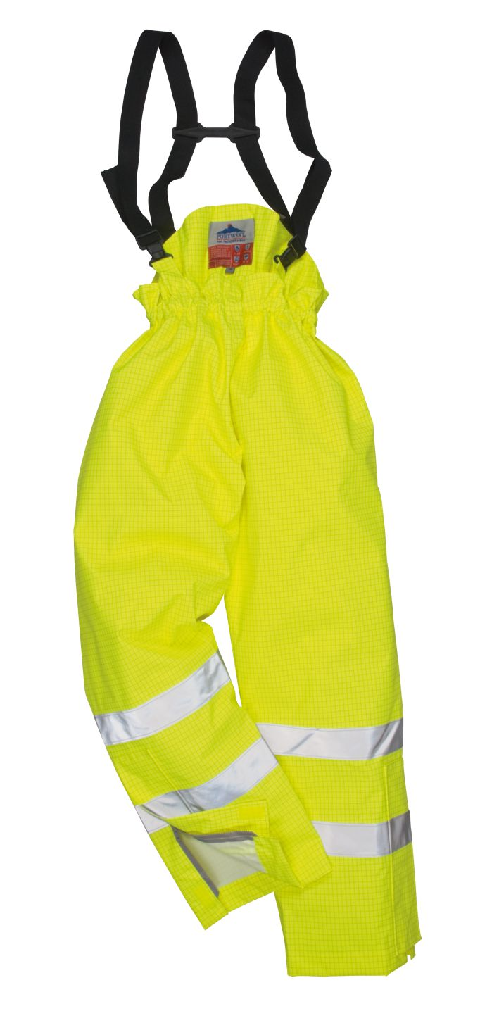 S781 Lined Hi Vis Anti Static FR Trousers