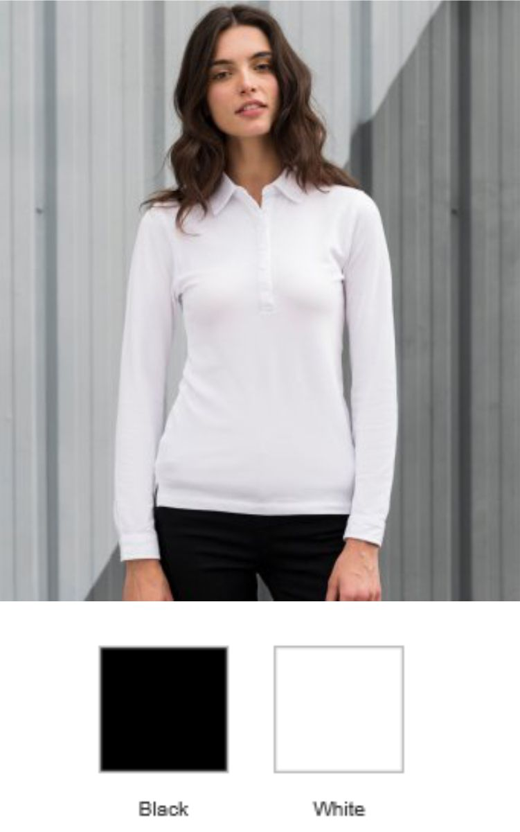 SK44 SF Ladies Long Sleeve Stretch Polo