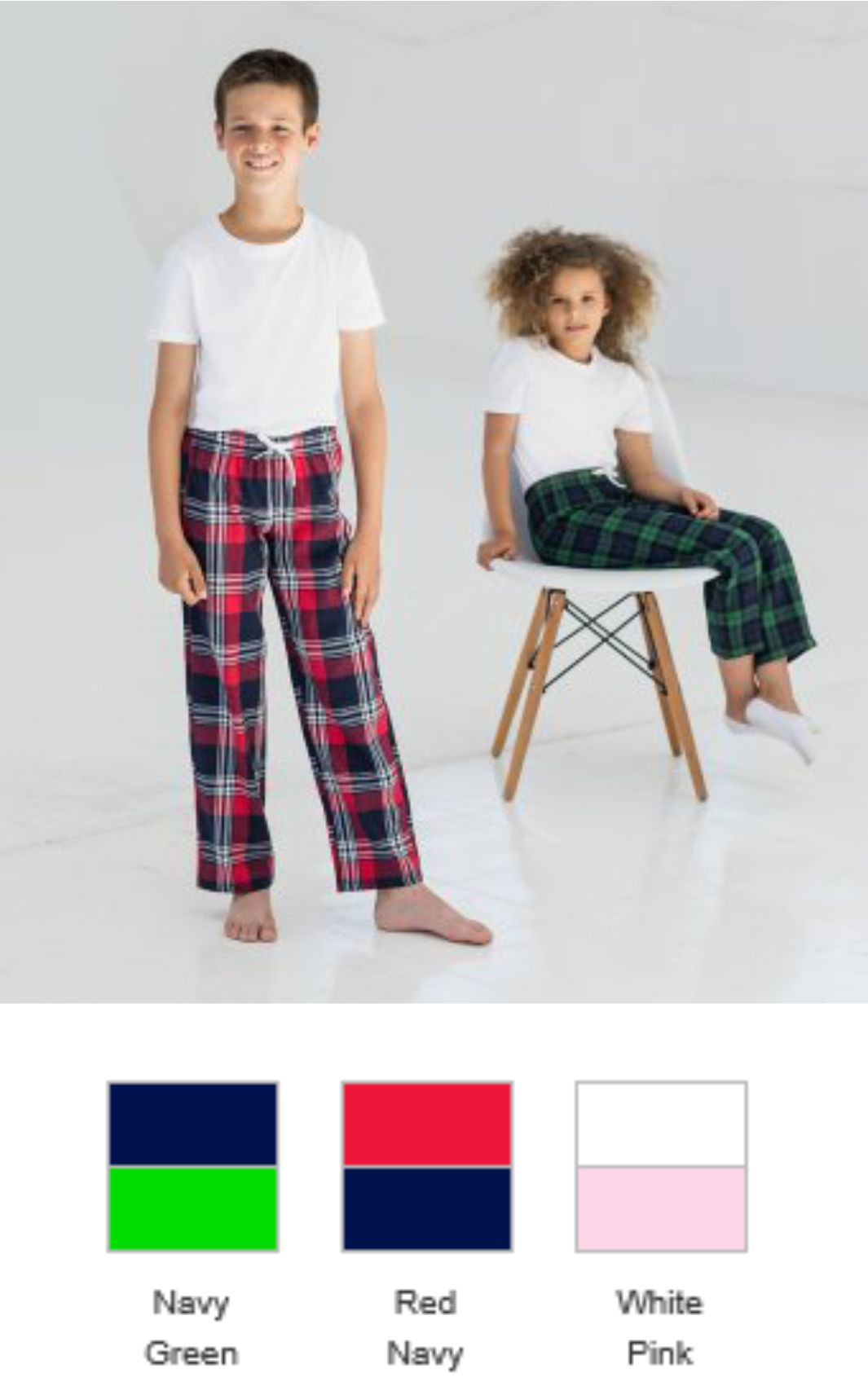 SM83 Kid's Tartan Lounge Pants