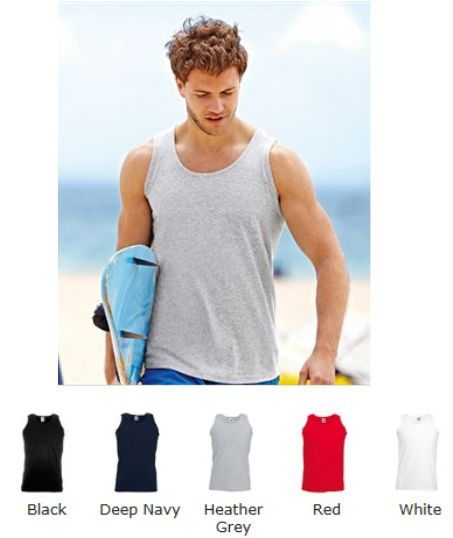 Fruit of the Loom 61098 SS18M Athletic vest