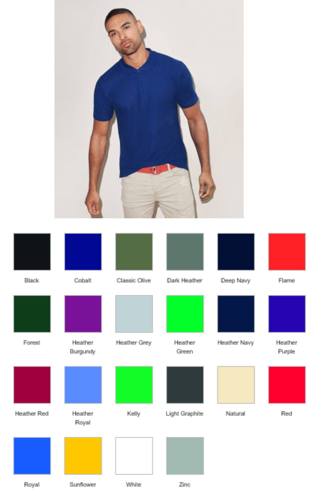 Fruit of the Loom SS145 Iconic Pique Polo Shirt