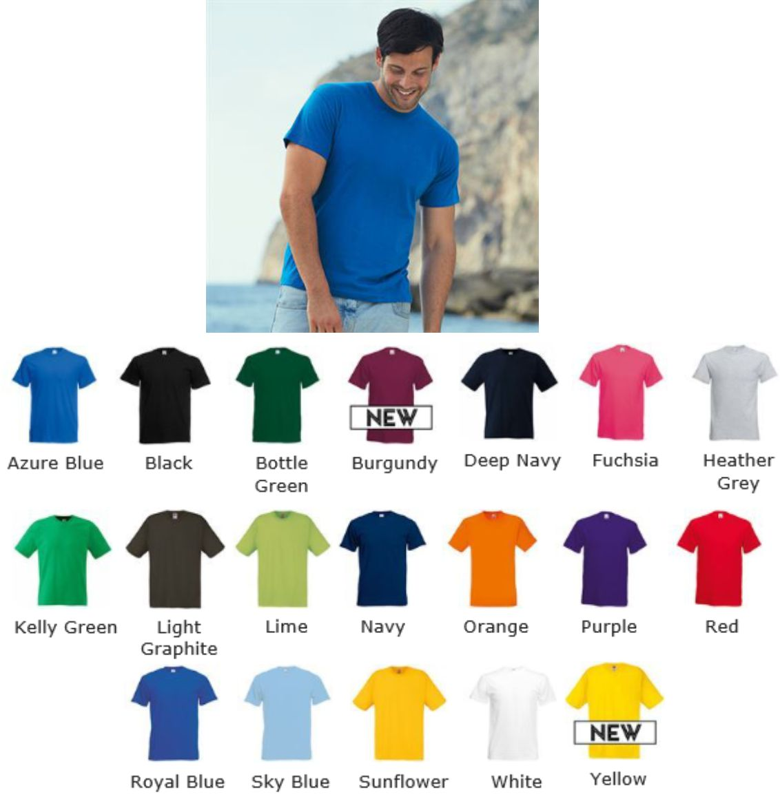 Fruit of the Loom 61082 SS22 Original Full Cut tee shirt