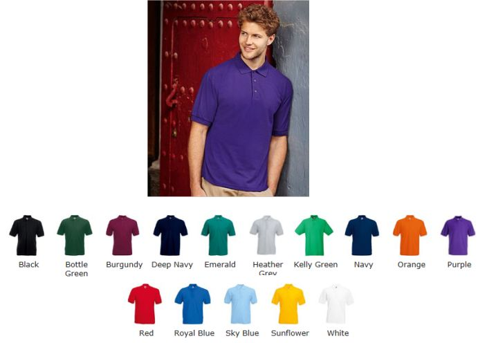Fruit of the Loom SS25M pique polo shirt