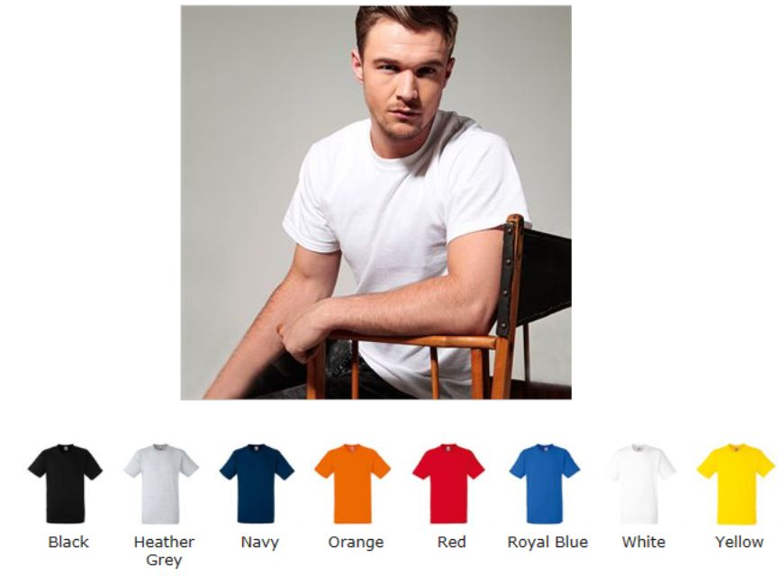 Fruit of the Loom SS003M 61212 Heavy Cotton Tee Shirt