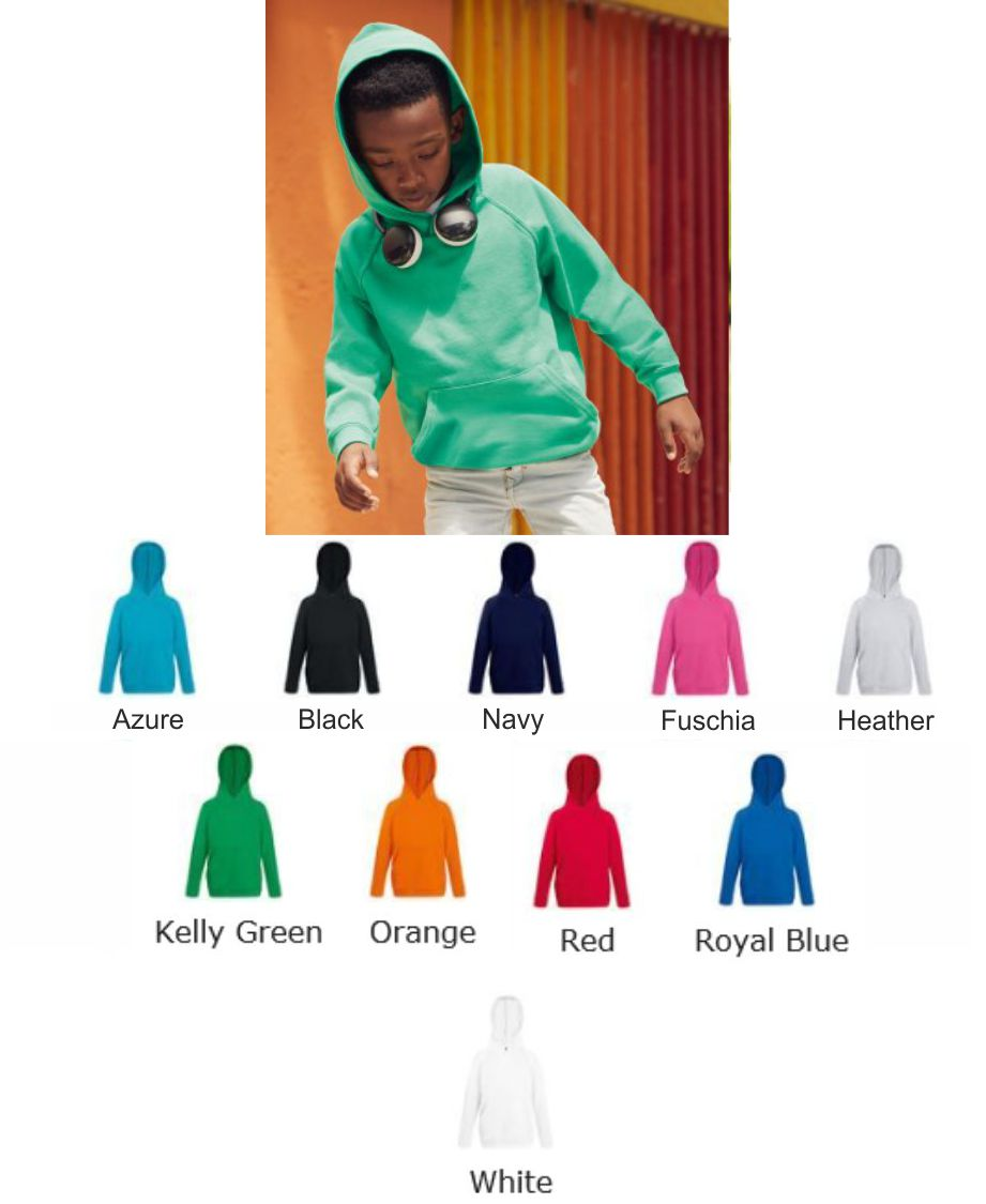 Fruit of the Loom SS56B Kid's Lightweight Hooded Sweat