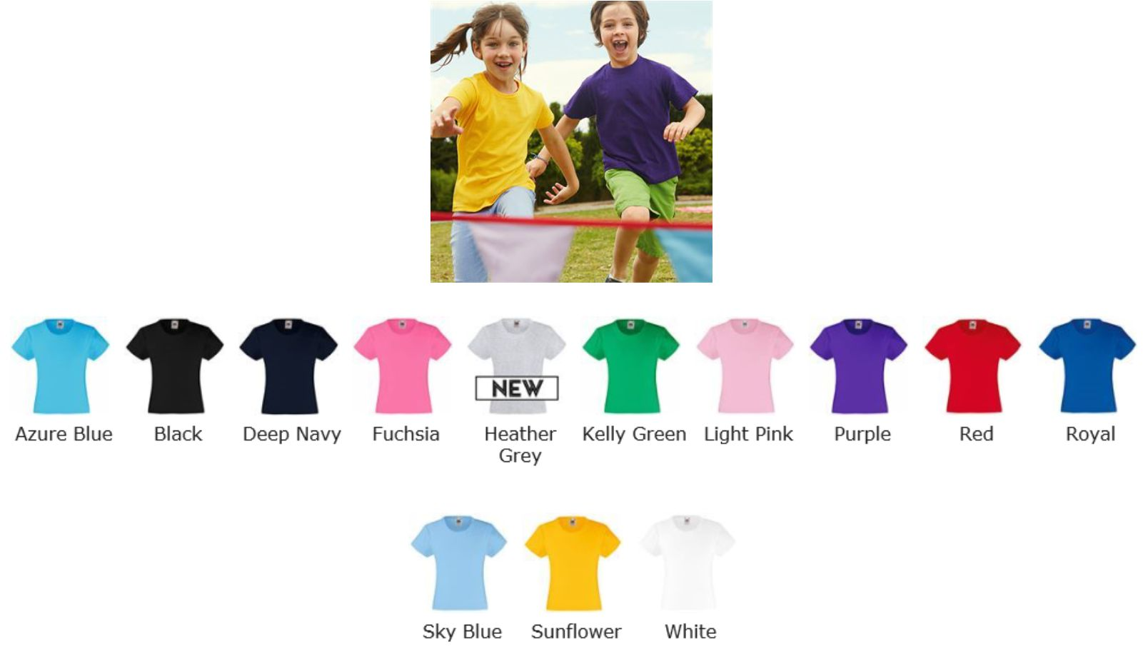 Fruit of the Loom SS79B Girls valueweight tee