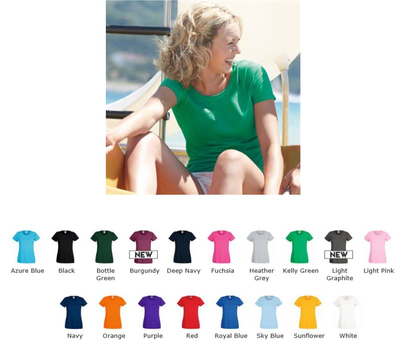 Fruit of the Loom 61046 SS79M valueweight Lady fit tee
