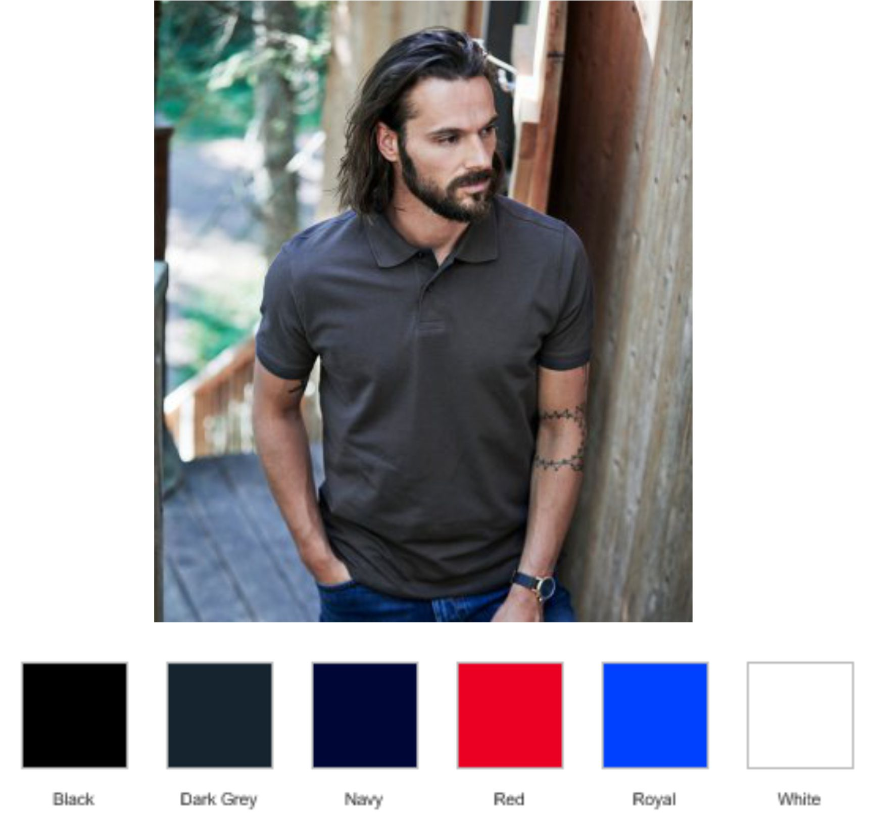 Tee Jays T1400 Heavy Cotton Pique Polo Shirt