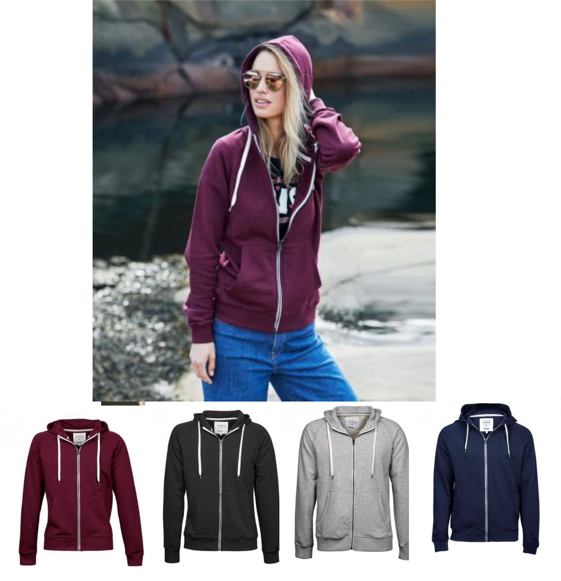 Tee Jays 5403 Ladies Urban Zip Hoodie