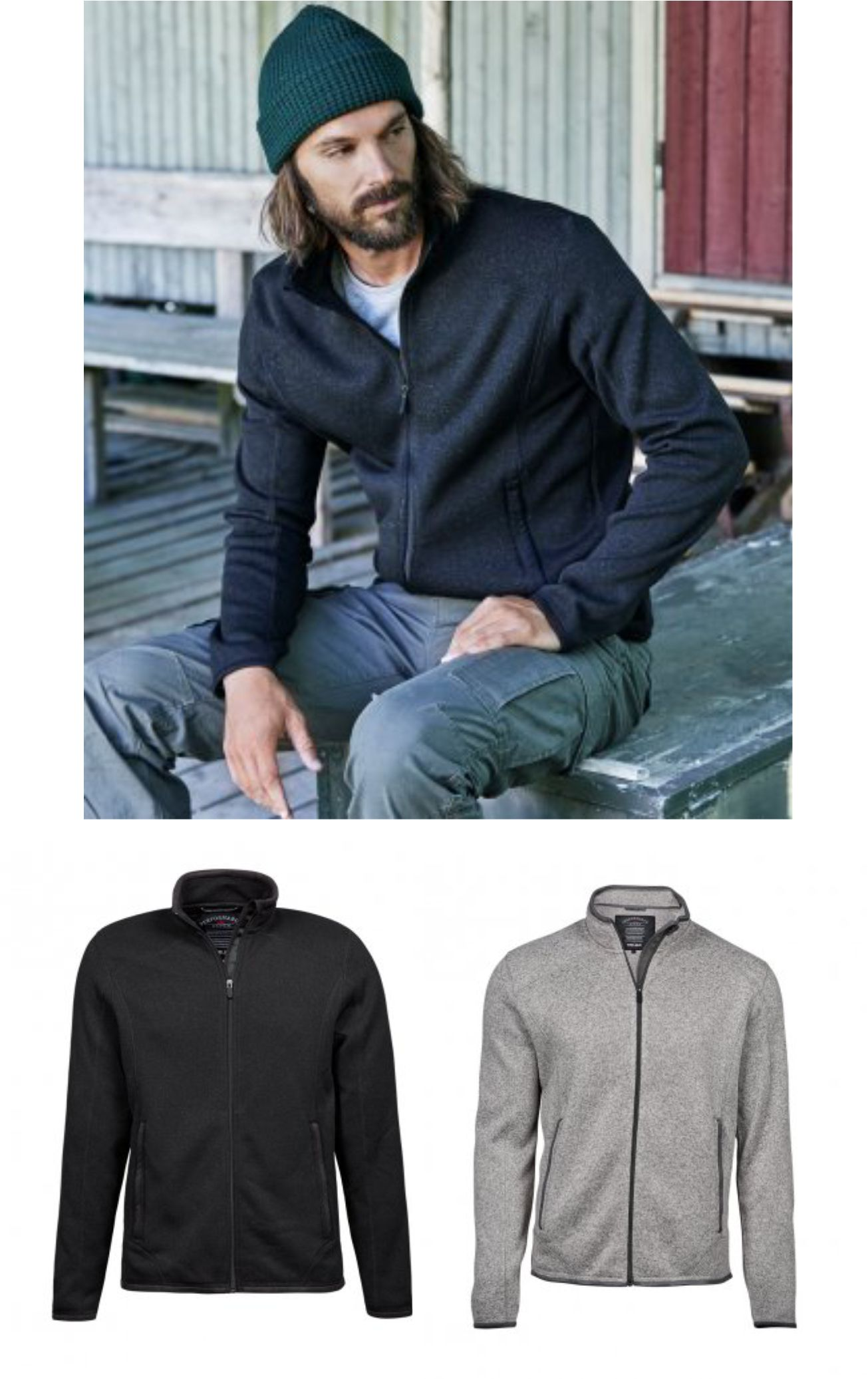 Tee Jays T9615 Knitted Outdoor Fleece Jacket
