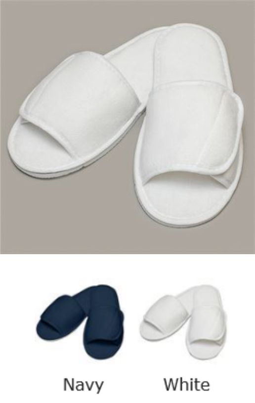 Towel City TC067 Open Toe Slipper with Top Fastening