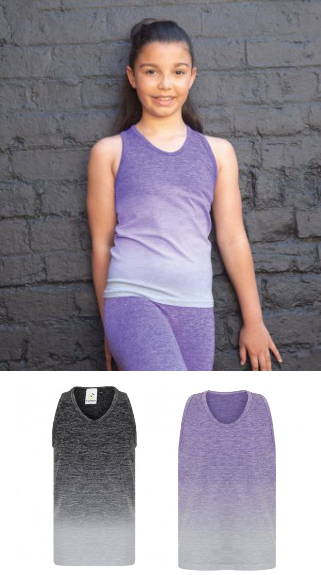 Tombo TL322 Kids Seamless Fade Out Vest