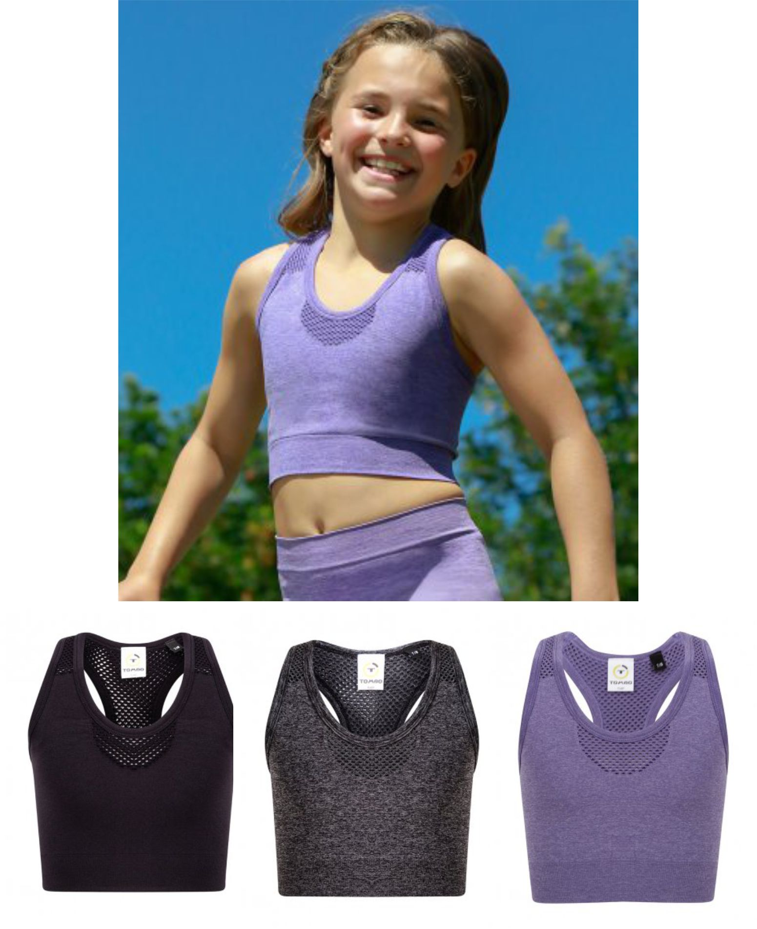 TL697 Tombo Kid's Seamless Crop Top
