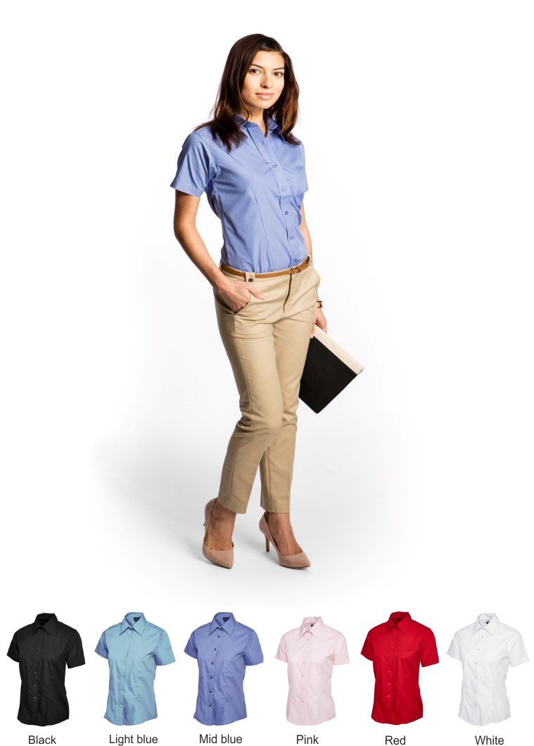 Uneek UC712 Ladies short sleeve Poplin Shirt