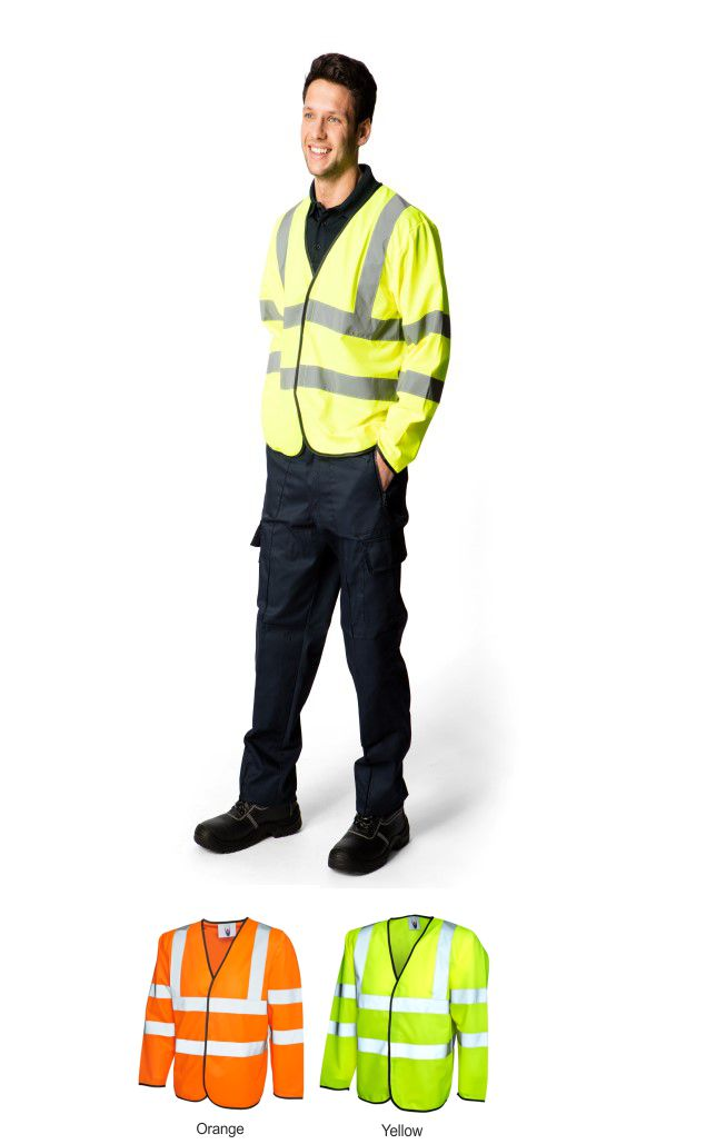 Uneek UC802 Long Sleeve Hi Vis Vest