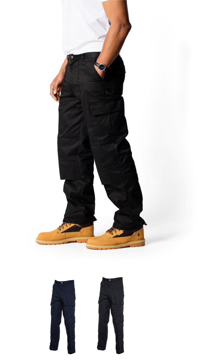 Uneek UC904 Cargo Trousers with knee pad pocket
