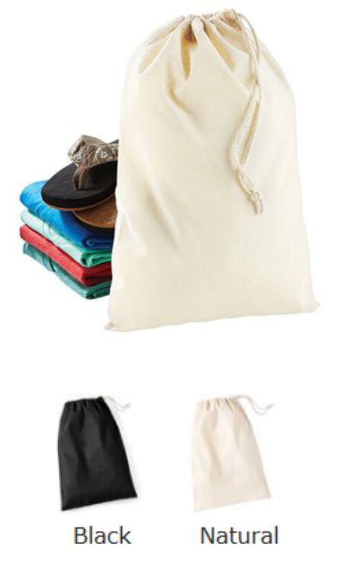 Westford Mill Cotton Stuff Bag W115