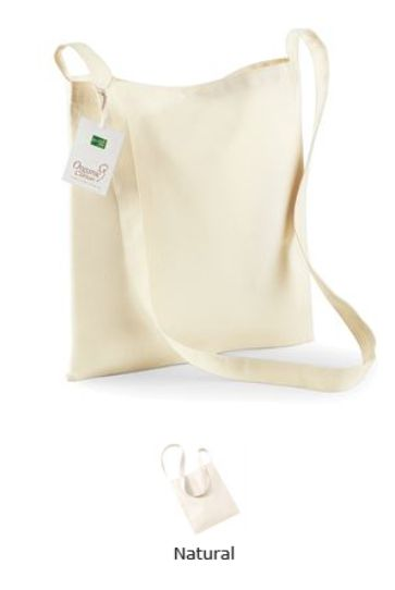 Westford Mill W187 Organic Cotton Sling Bag